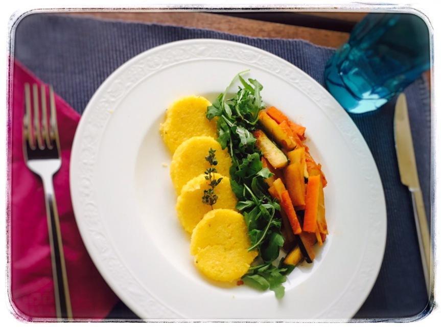 Polentalaibchen mit Wokgemüse