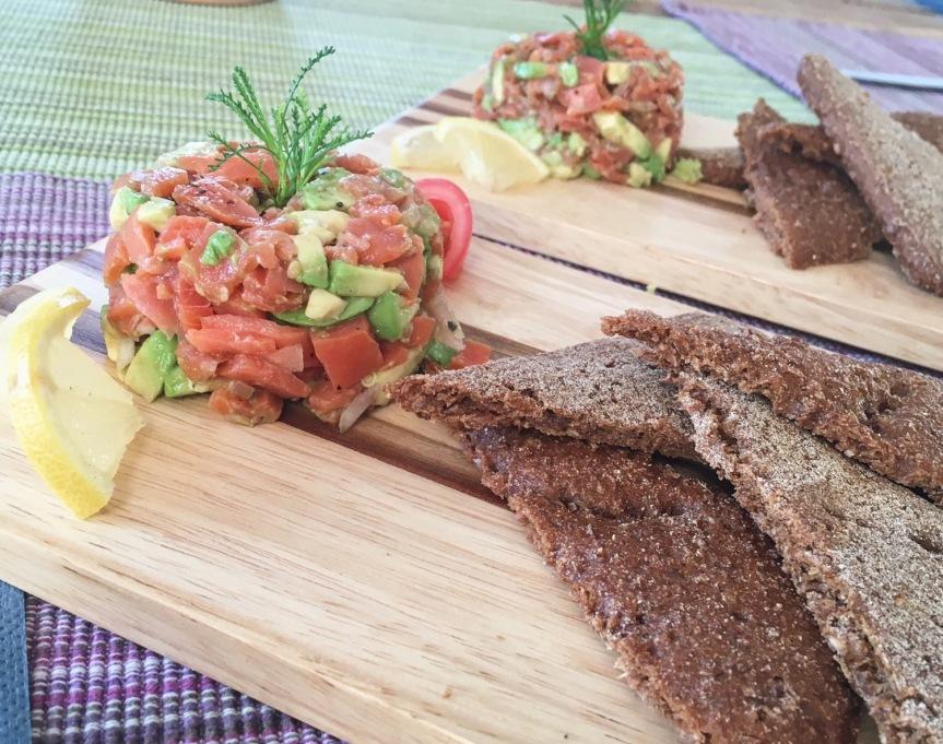 Avocado-Räucherlachs-Tartar