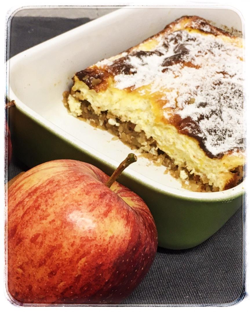 Apfel-Topfenauflauf