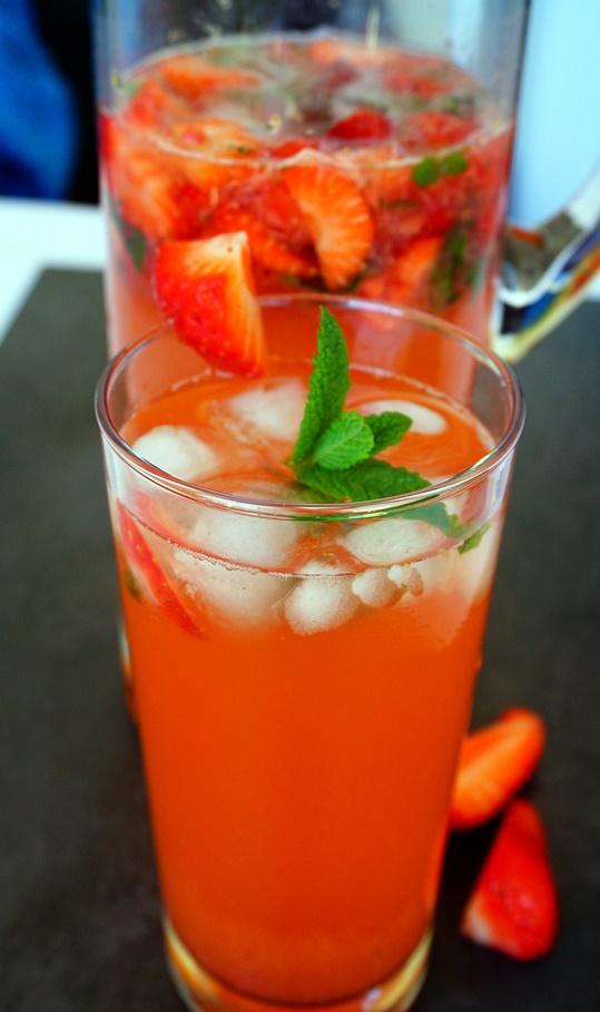 Erdbeer-Minz Limonade