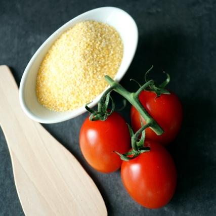 Polenta, Tomaten