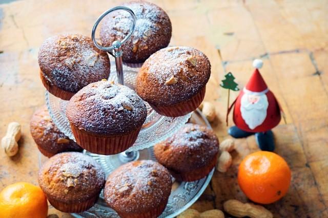 Erdnuss-Mandarinen Muffins