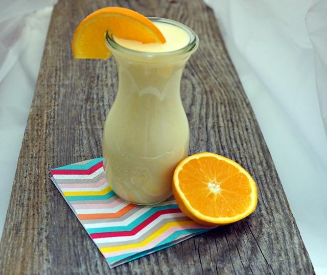 Orangen Buttermilch Drink