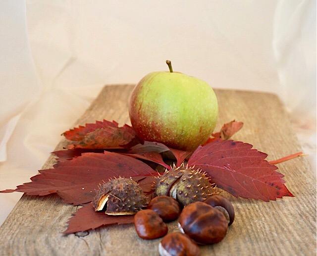 Apfel und Maroni